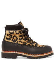 Tabitha Simmons Bexley leopard-print calf hair and leather ankle boots