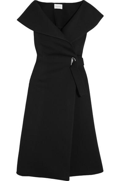 Beaufille - Forbes Modal-neoprene Wrap Dress - Black