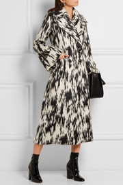 Vela brushed-jacquard coat