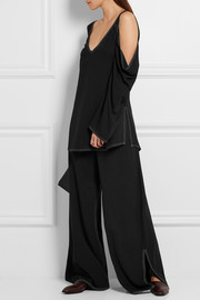 Ursa piqué wide-leg pants