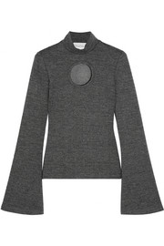 Beaufille Janus cutout stretch-knit turtleneck top