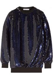 Carven Oversized sequined tulle top