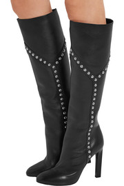 Saint Laurent Grace studded leather knee boots