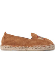 Manebi Navajo embroidered suede espadrilles