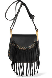 Hudson small tasseled leather shoulder bag