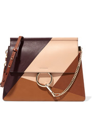 Chloé Faye paneled leather shoulder bag
