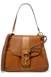 Lexa medium textured-leather shoulder bag