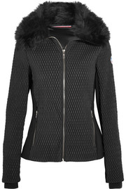 Montana faux fur-trimmed quilted ski jacket