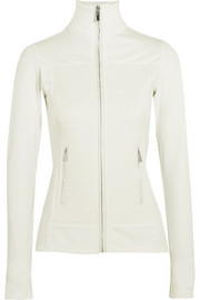 Anna quilted satin and stretch-jersey jacket