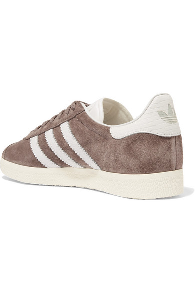 858d7e0d6f81 adidas Originals. Gazelle suede and snake-effect leather sneakers. £56.  Zoom In