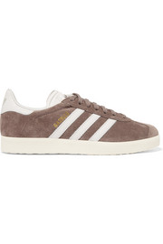 adidas Originals Gazelle suede and snake-effect leather sneakers
