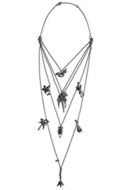 Burnished silver-tone necklace