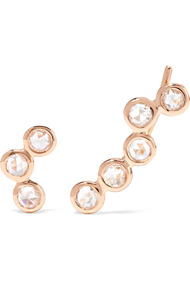 Lito - Hive 18-karat Rose Gold Diamond Earrings
