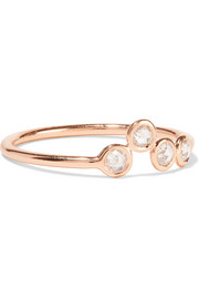 Hive 18-karat rose gold diamond ring