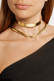 Flow gold-plated choker