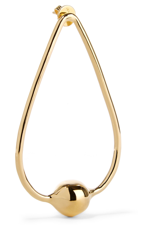 Jennifer Fisher Orb Drop gold-plated earrings