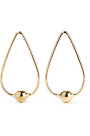 Orb Drop gold-plated earrings