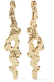 Molten gold-plated earrings