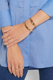 Jennifer Fisher Small Flow gold-plated cuff