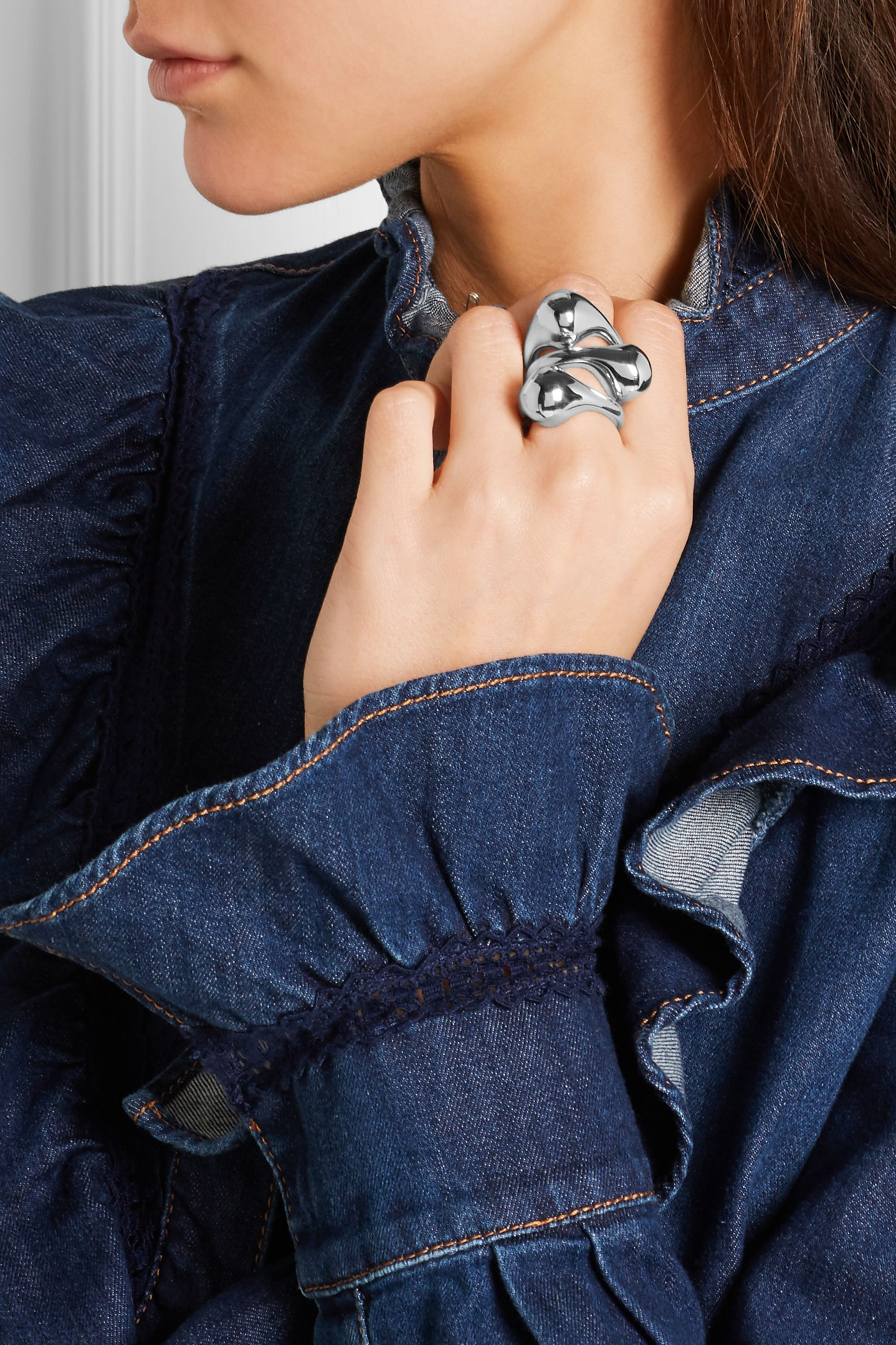 Jennifer Fisher Orb silver-plated ring