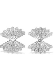 Anita Ko Fan 18-karat white gold diamond earrings