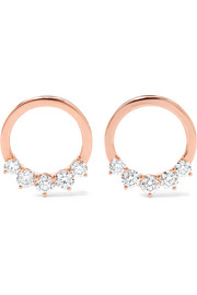 Anita Ko Floating 18-karat rose gold diamond hoop earrings