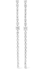 Anita Ko Rope 18-karat white gold diamond earrings