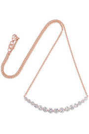 Anita Ko Large Crescent 18-karat rose gold diamond necklace