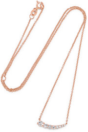 Anita Ko Small Floating 18-karat rose gold diamond necklace