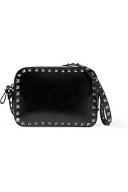 Valentino The Rockstud patent-leather shoulder bag