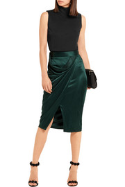 Atlein Draped jersey skirt