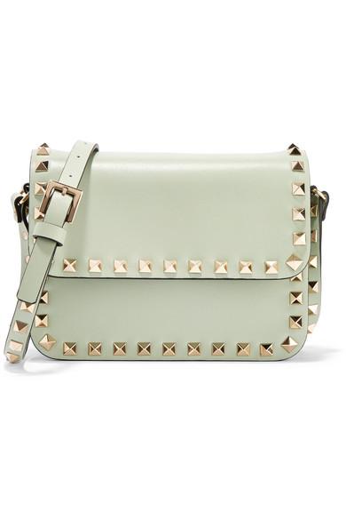 Valentino - The Rockstud Mini Leather Shoulder Bag - Mint