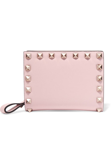 Valentino - The Rockstud Leather Wallet - Pastel pink