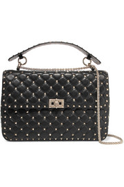 Rockstud large matelassé leather shoulder bag