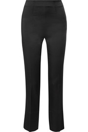 Satin slim-leg pants