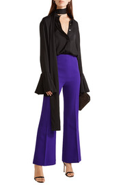 Roland Mouret Connor wool-crepe flared pants