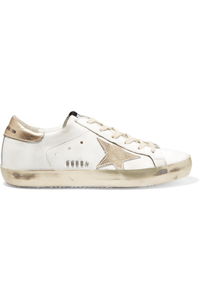 5493af94fc86 Golden Goose Deluxe Brand. Super Star distressed leather sneakers