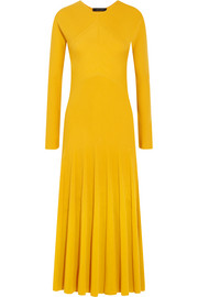 Cédric Charlier Ribbed-knit midi dress