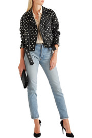 Saint Laurent Studded leather biker jacket