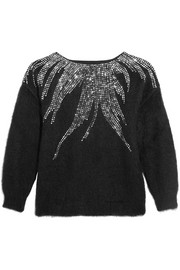 Embellished mohair-blend sweater