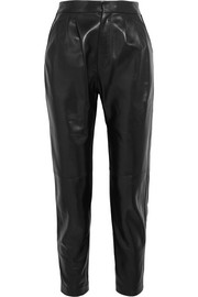 Saint Laurent Leather tapered pants