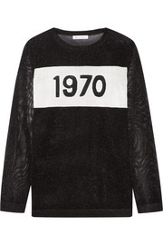 Bella Freud 1970 metallic intarsia knitted sweater