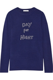 Bella Freud Day For Night embroidered wool sweater