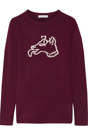 Bella Freud Dog intarsia wool sweater