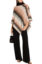 Missoni Metallic crochet-knit poncho