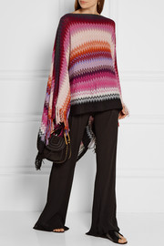 Missoni Fringed wool-blend crochet-knit poncho