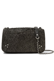 Bobi glittered leather shoulder bag