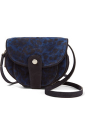 Momo leopard-print suede shoulder bag