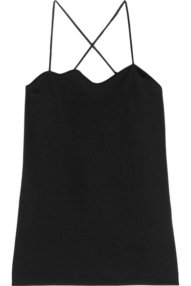 Toga - Scalloped Jersey Camisole - Black