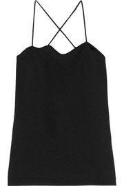 Toga Scalloped jersey camisole
